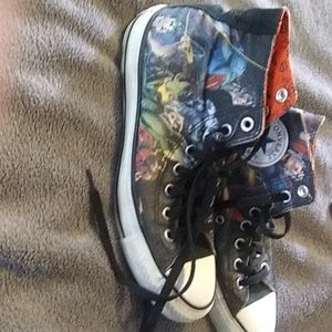 Converse sneakers with DC comics